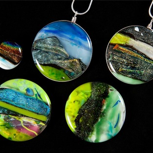 Kiln-Fired Glass Pendants