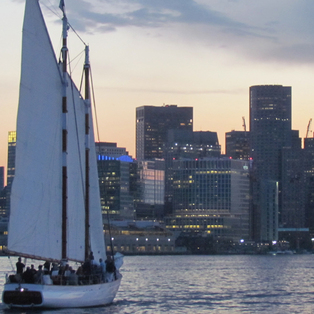 City Lights Sail on schooner Adirondack III
