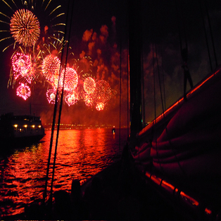 Labor Day Fireworks cruise on the Schooner Adirondack III