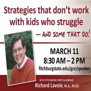 Distinguished Speaker, Richard Lavoie