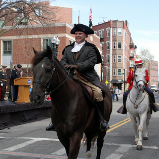 Patriots' Day Parade. Paul Revere Ride.