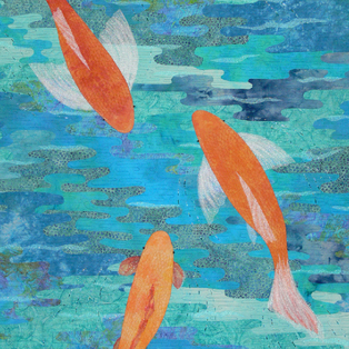Out of the Blue - Art Quilts 2015