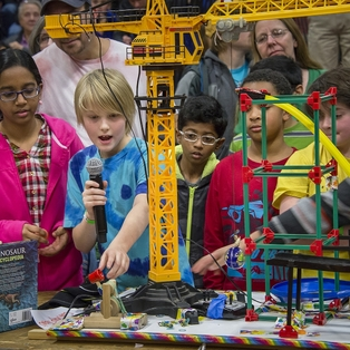 MIT Museum's Friday After Thanksgiving Chain Reaction Event